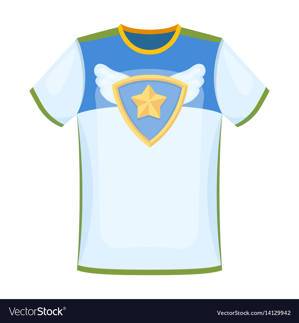 T-shirt fan with printfans single icon in cartoon vector image