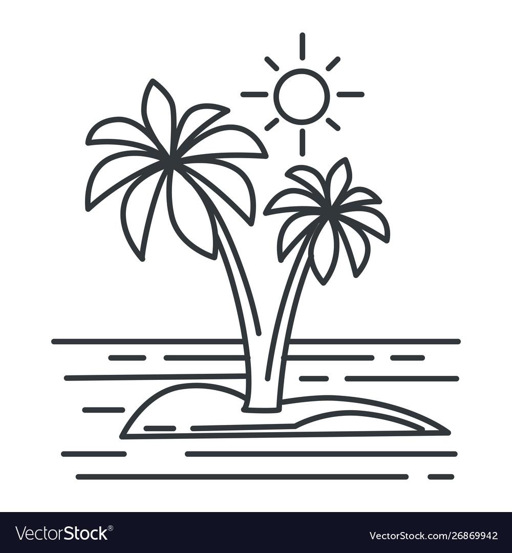 Tropical island summer landscape ocean or