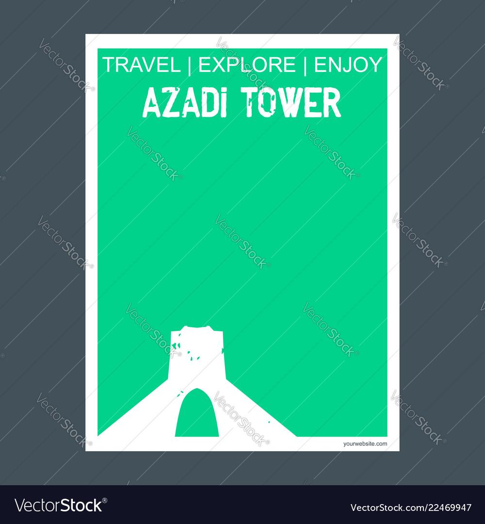 Azadi tower tehran iran monument landmark