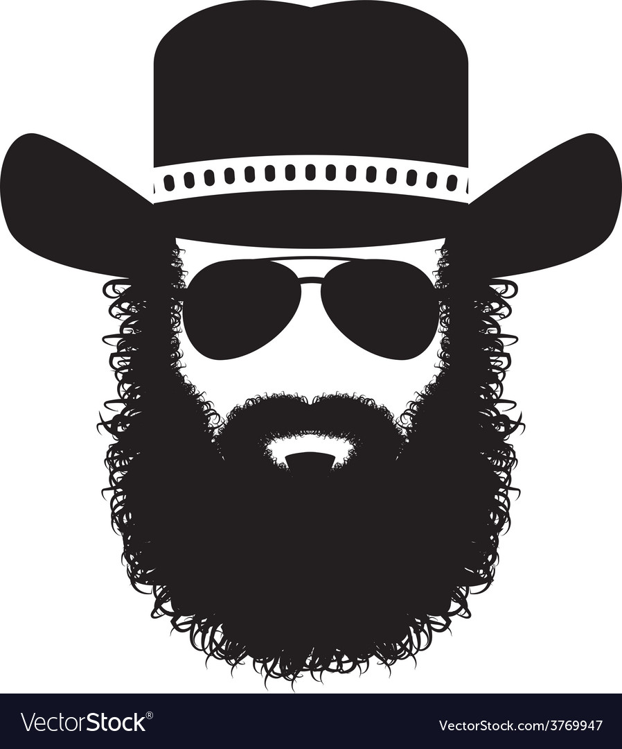 bearded man silhouette royalty free vector image