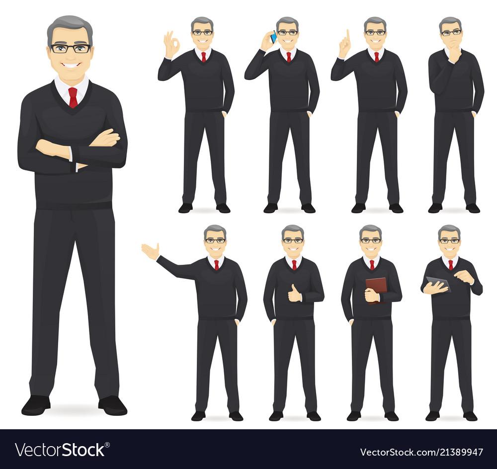 Business man set
