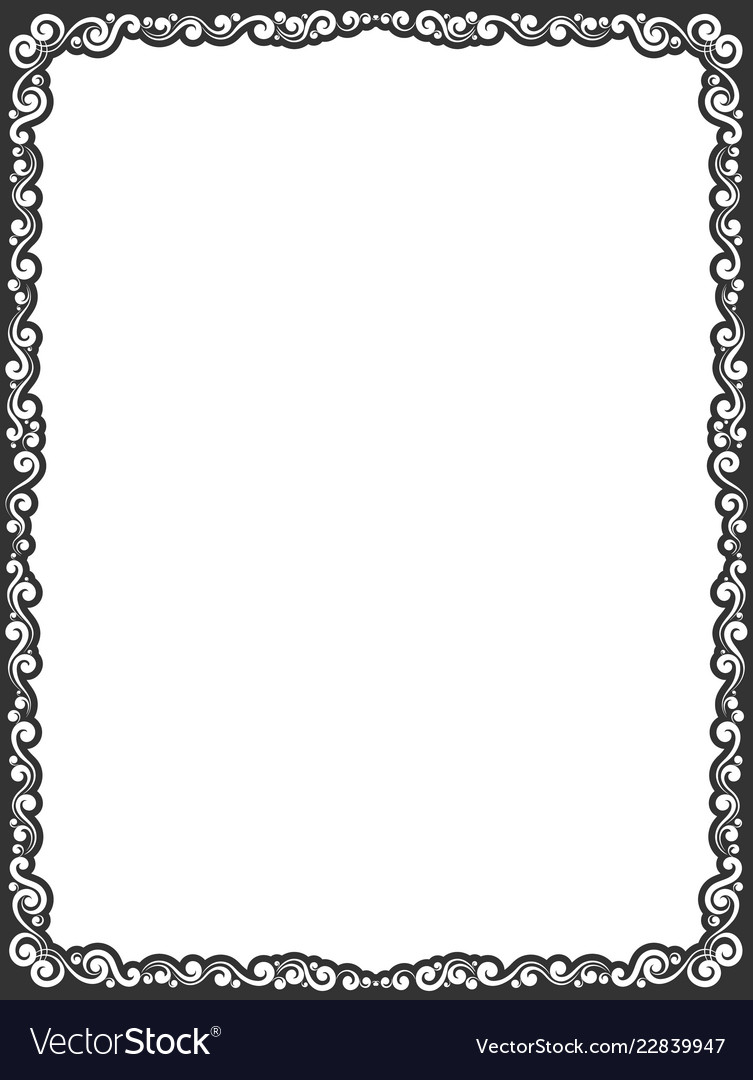 Calligraphic frame border