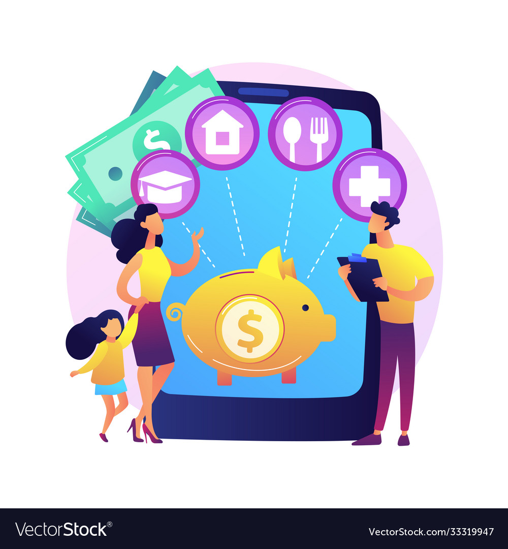Family budget planning abstract concept