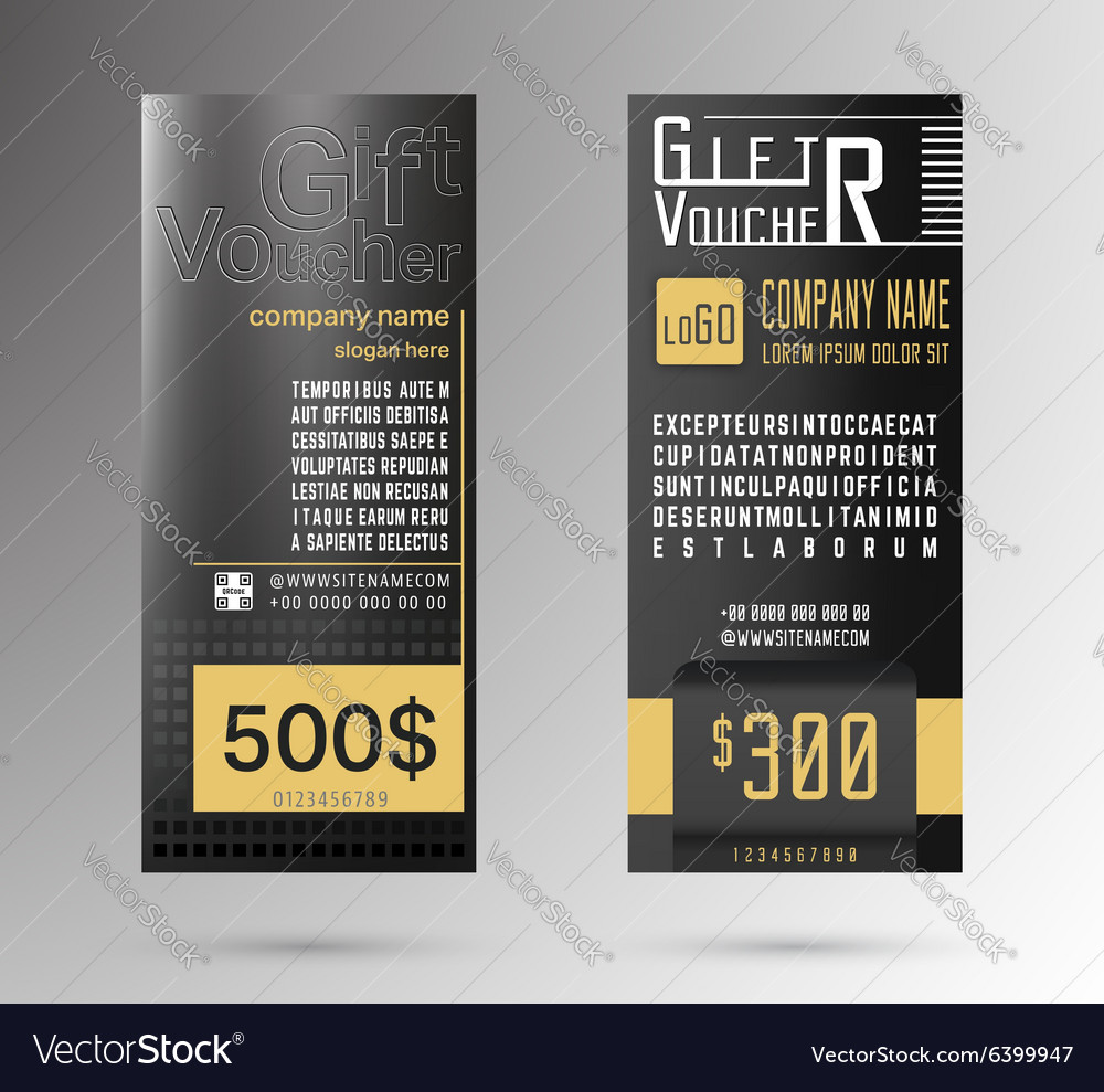 Gift Voucher Template vector image