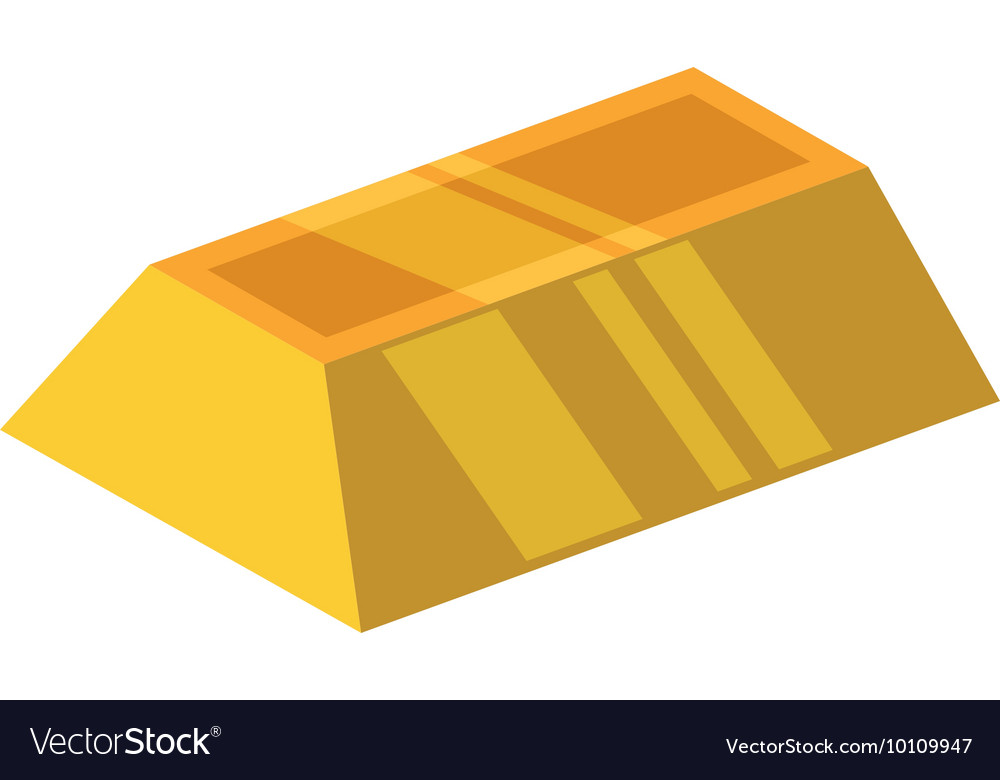 Gold bar block yellow treasure icon