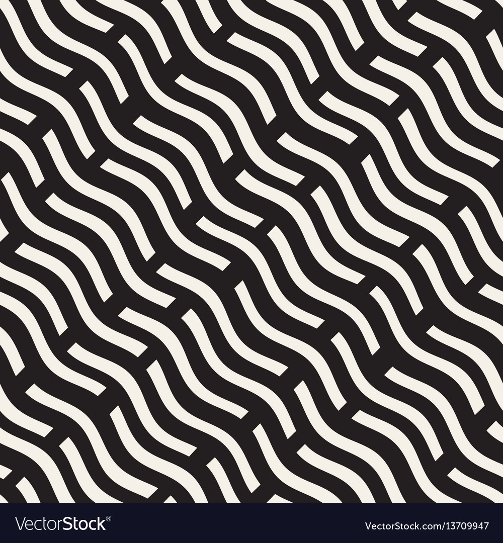 Hand drawn scattered wavy lines monochrome texture