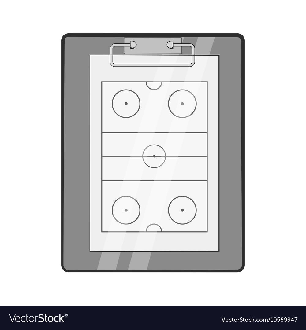 Hockey game plan icon black monochrome style