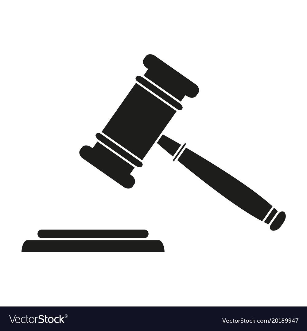 Judge hammer black icons