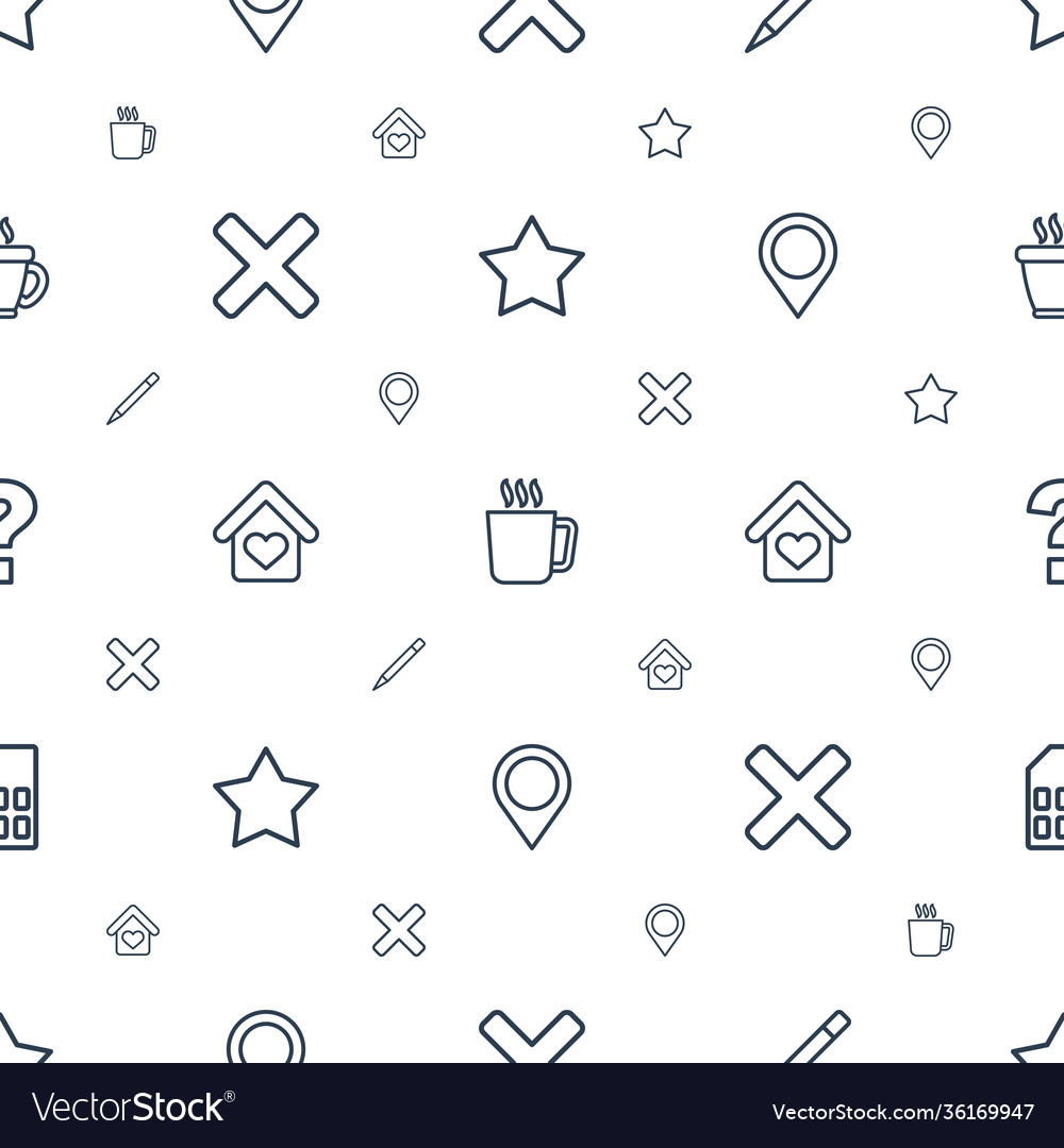 Label icons pattern seamless white background