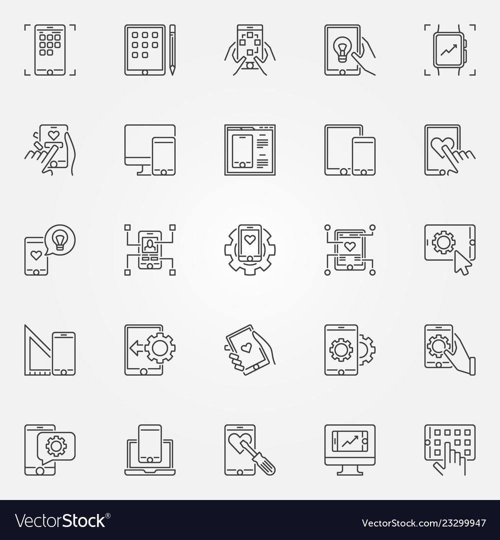 Mobile app development outline concept