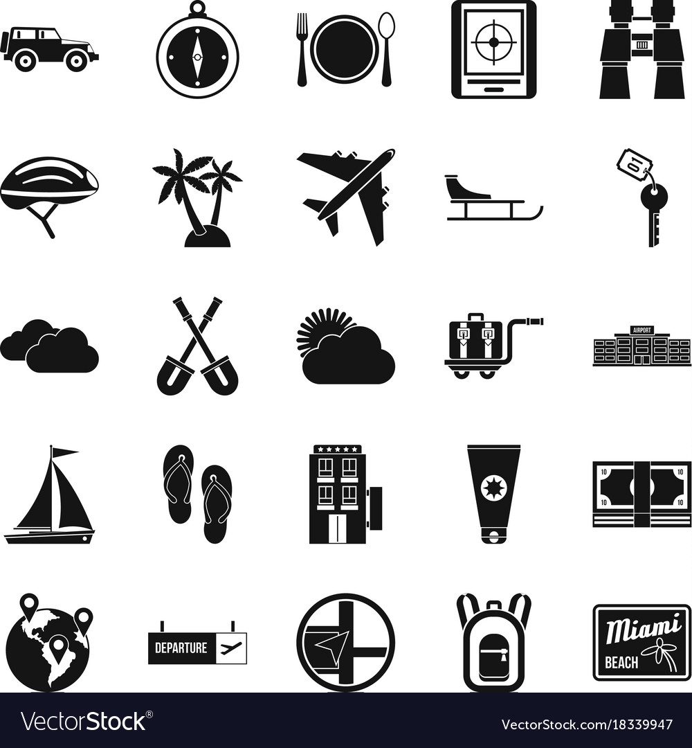 One direction icons set simple style vector image