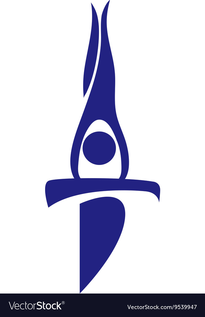 Sport icon for gymnastics on beam