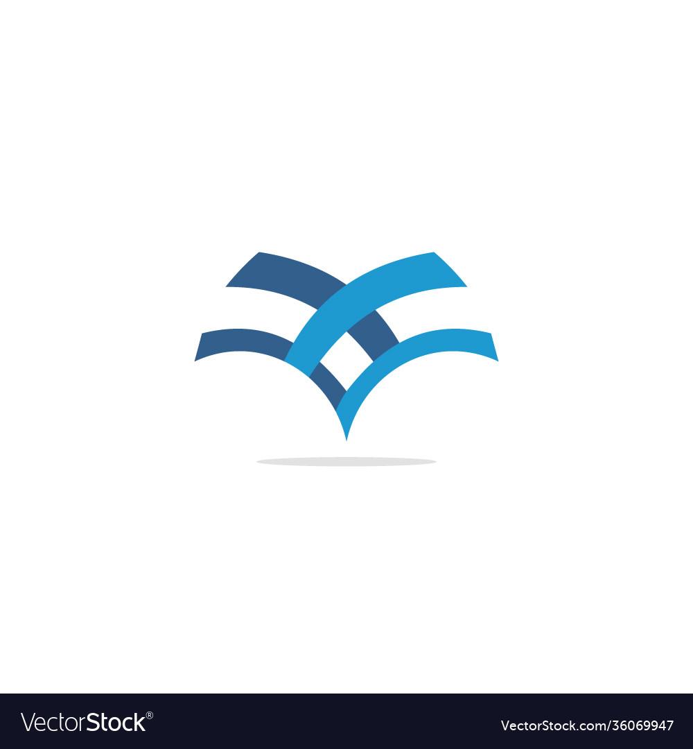 V shape line company logo