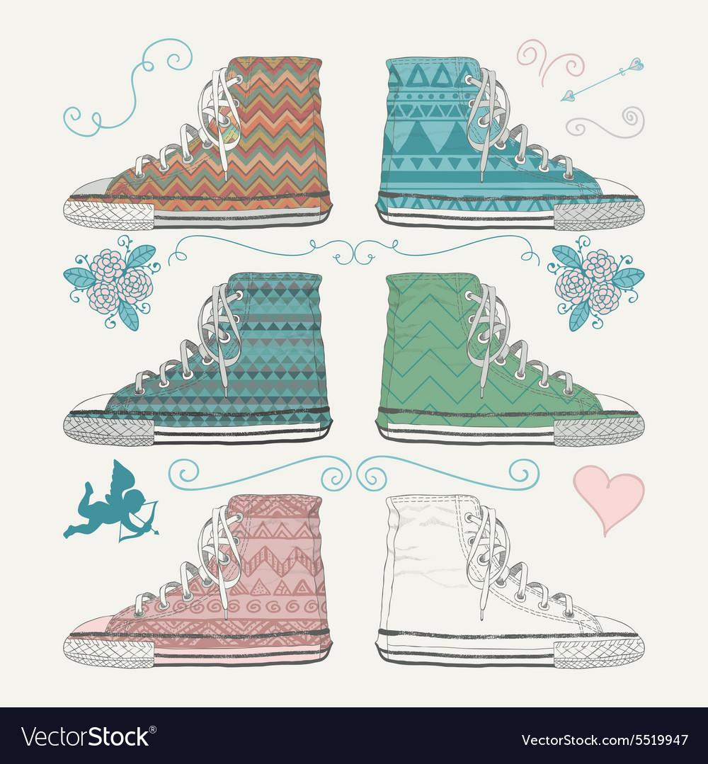 Variations of Sketched Sneakers