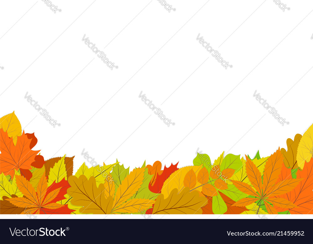 Autumn design background with leaves falling from