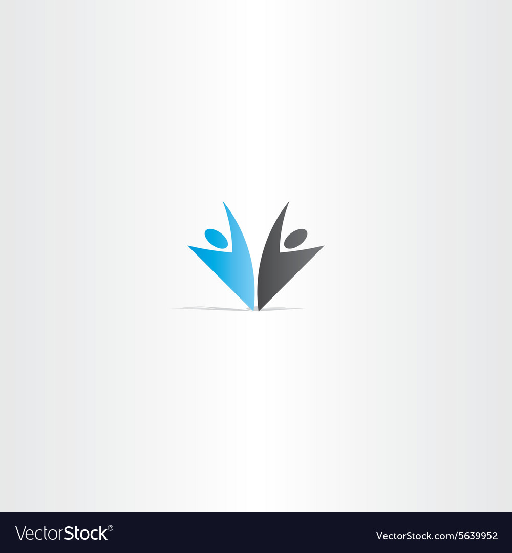 business people blue black logo royalty free vector image
