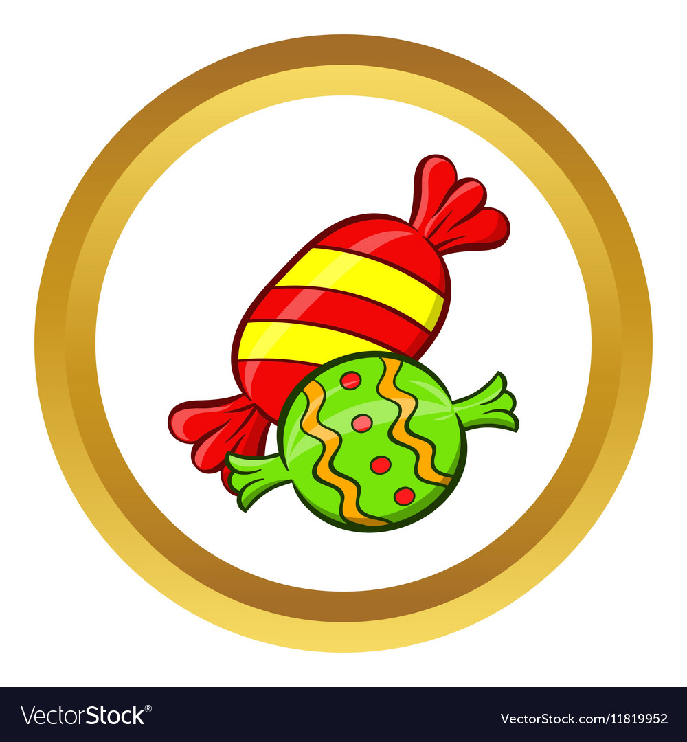 Candy icon cartoon style vector image
