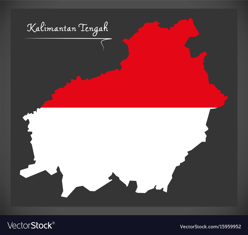 kalimantan tengah indonesia map with indonesian vector image vectorstock