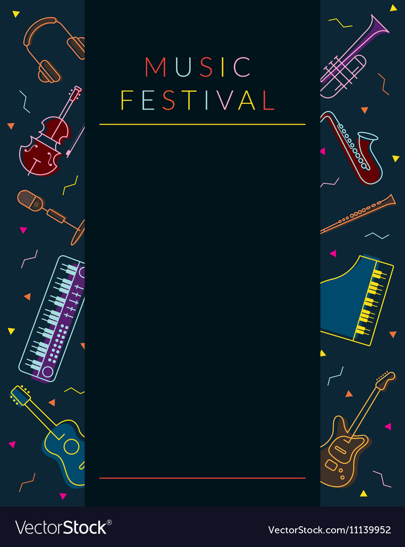 Music Instruments Objects Poster Frame
