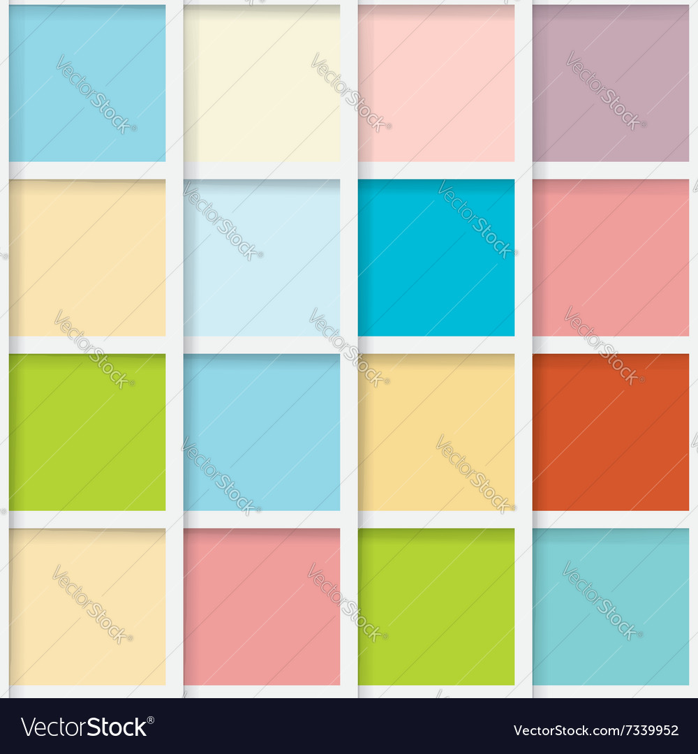 Seamless mosaic from colorful squares