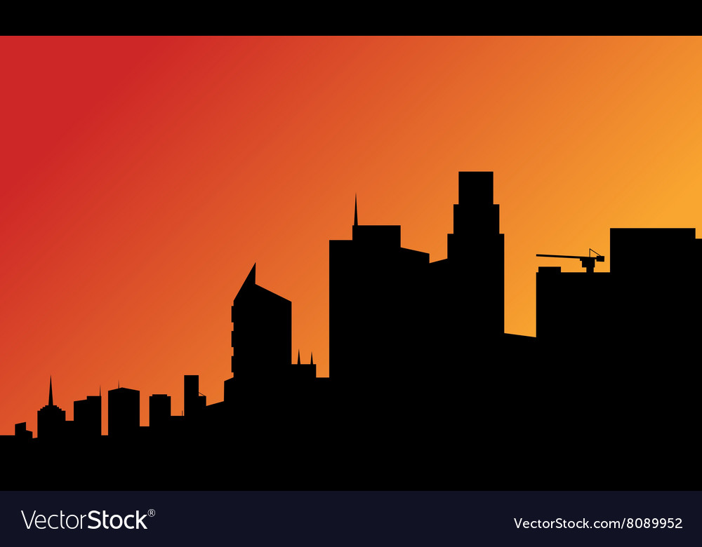 Silhouette of a tall buildings