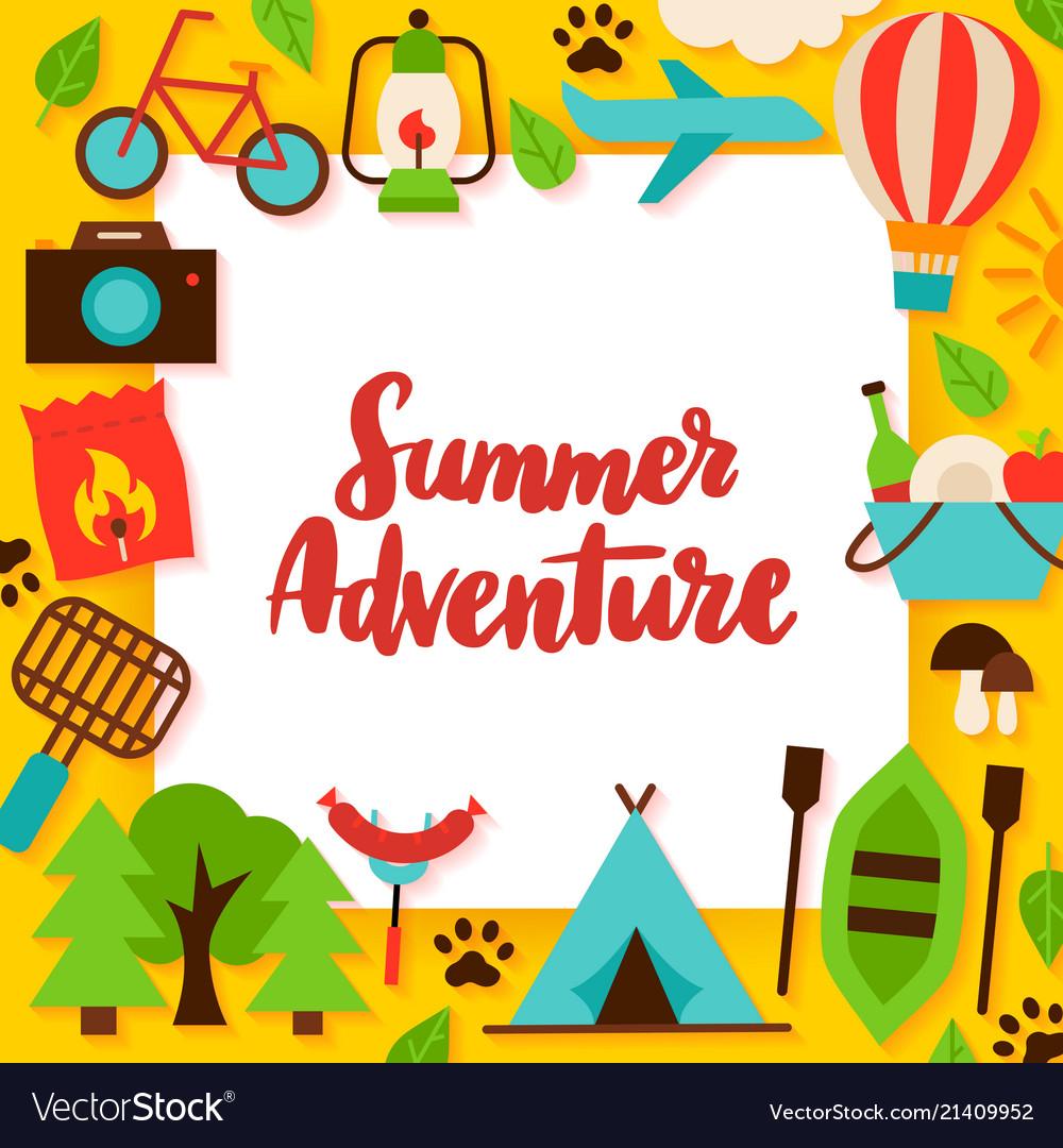 Summer adventure paper concept