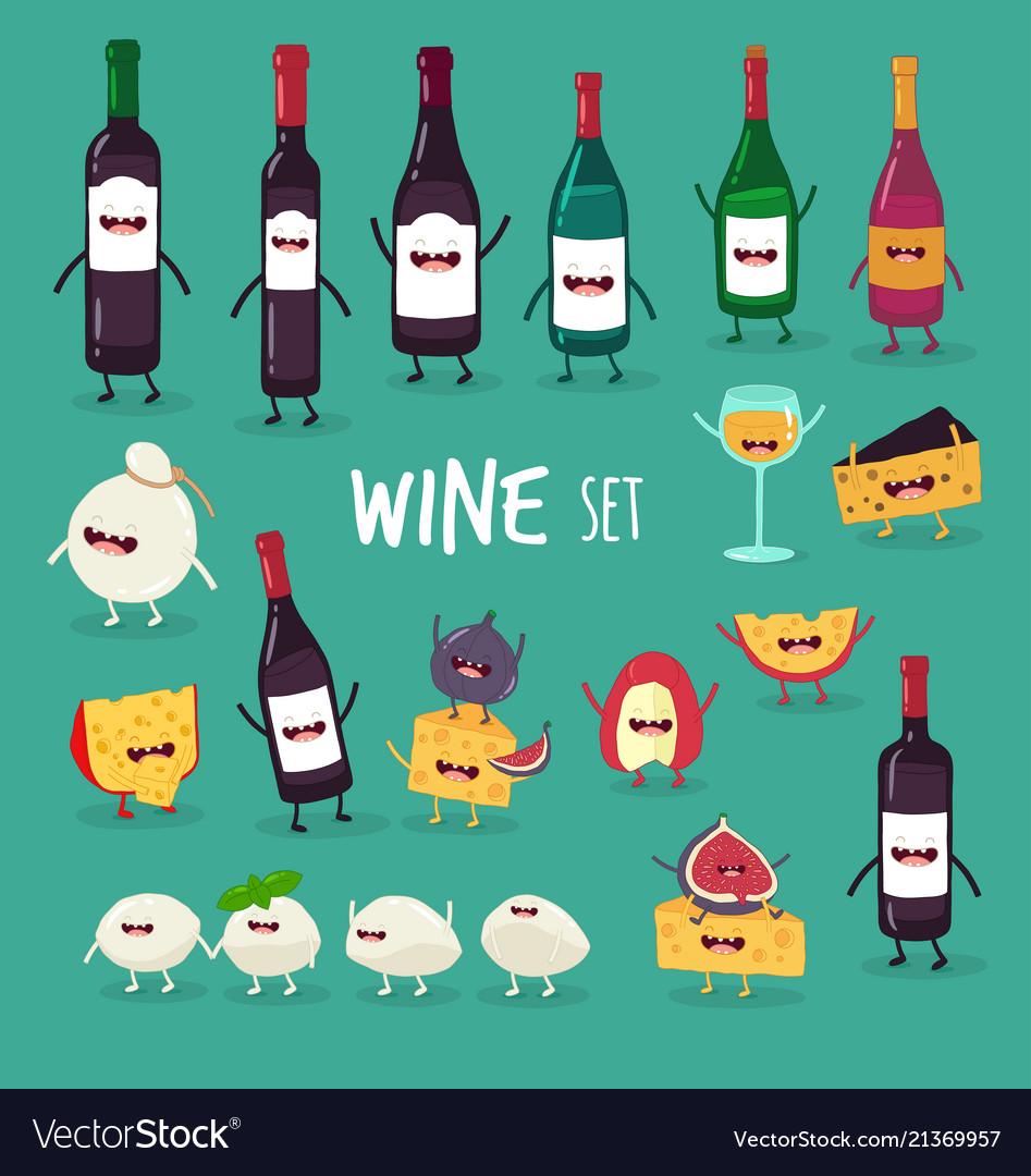 Wine and cheese set