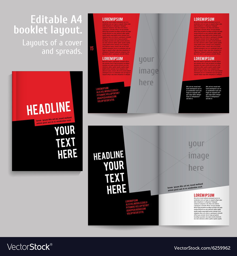 a4 book layout design template royalty free vector image