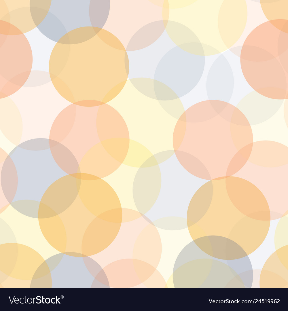Abstract transparent circles in layers seamless