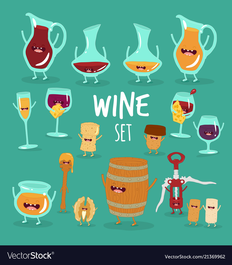 Animated wine set