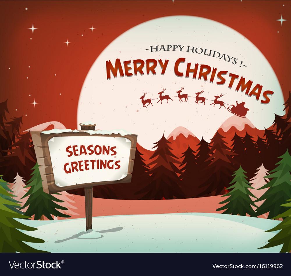 Happy christmas holidays background