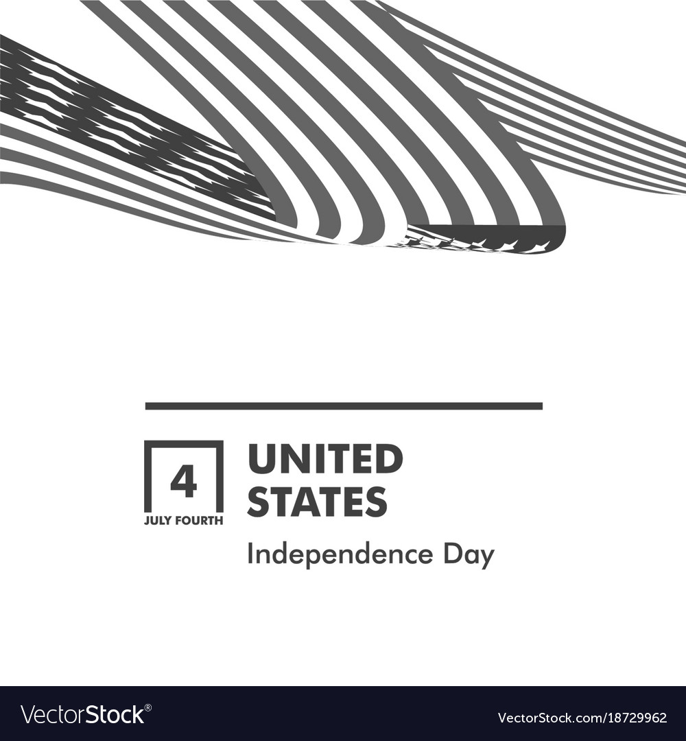 Happy independence day monochrome curly twisted