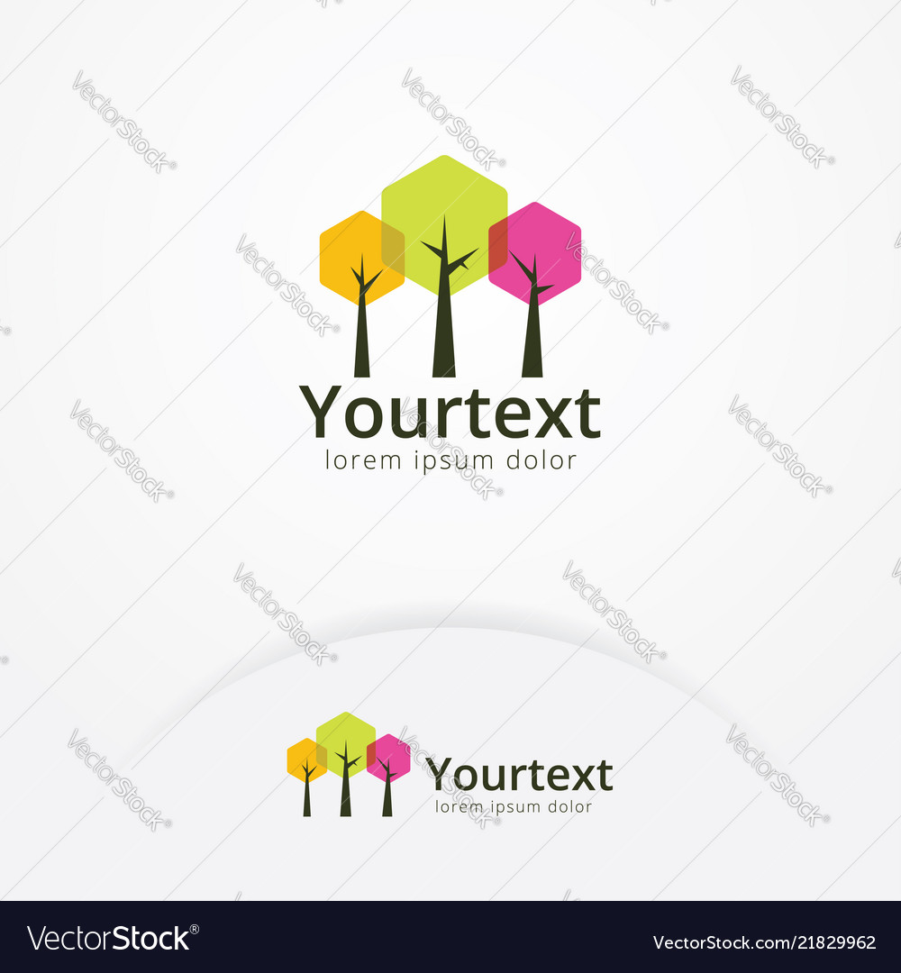Hexagonal trees logo