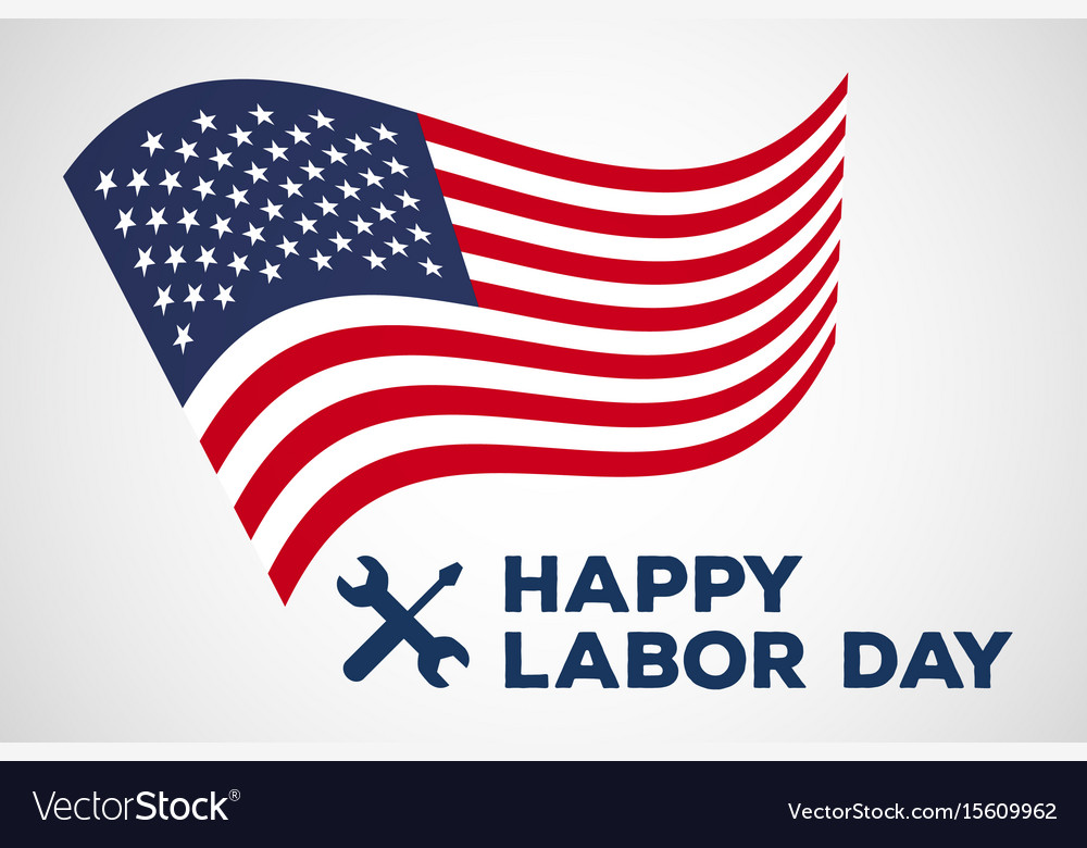 Labor day logo label