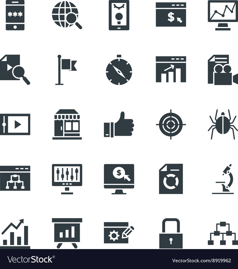 SEO and Internet Marketing Cool Icons 2