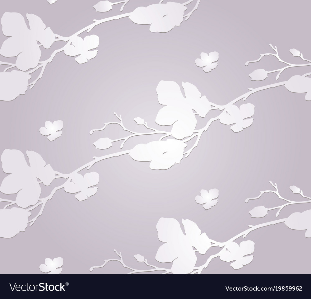 Subtle Paper Craft Seamless Pattern With Cherry Vector Image