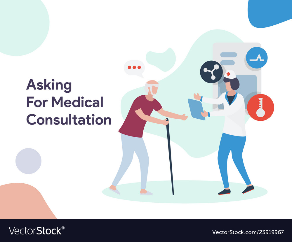 Asking for medical consultation