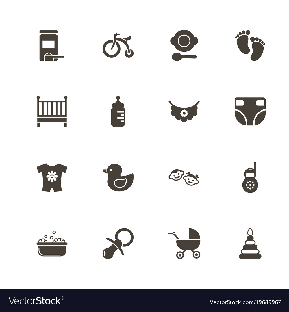 Baby - flat icons vector image