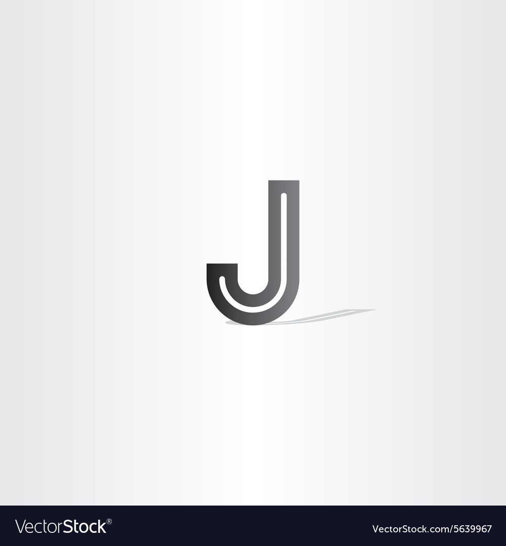 Black Letter J Logo Design Element Vector Image