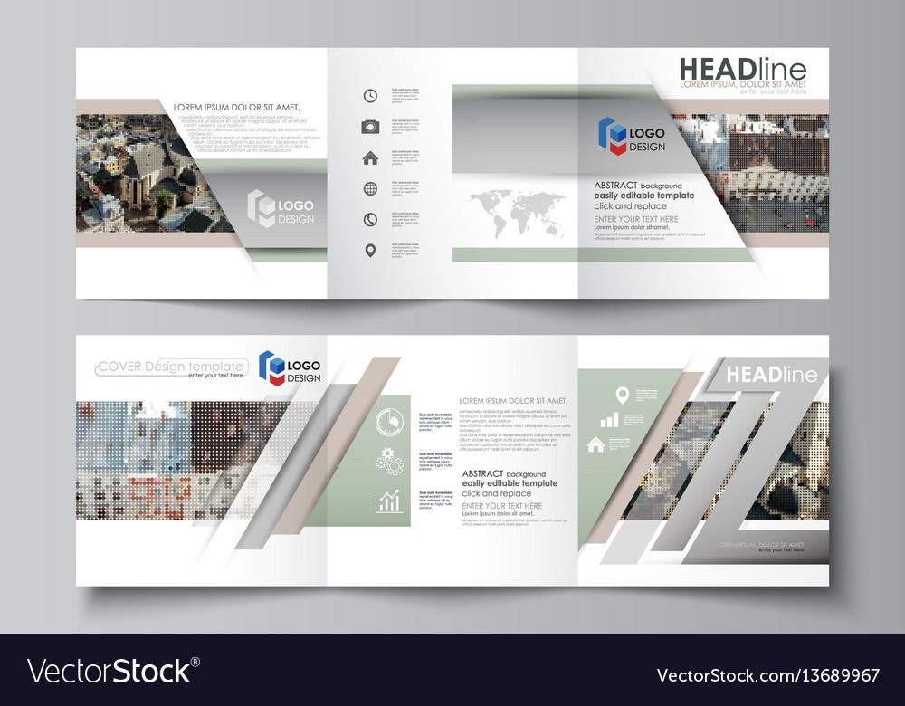 Business templates for tri fold square design