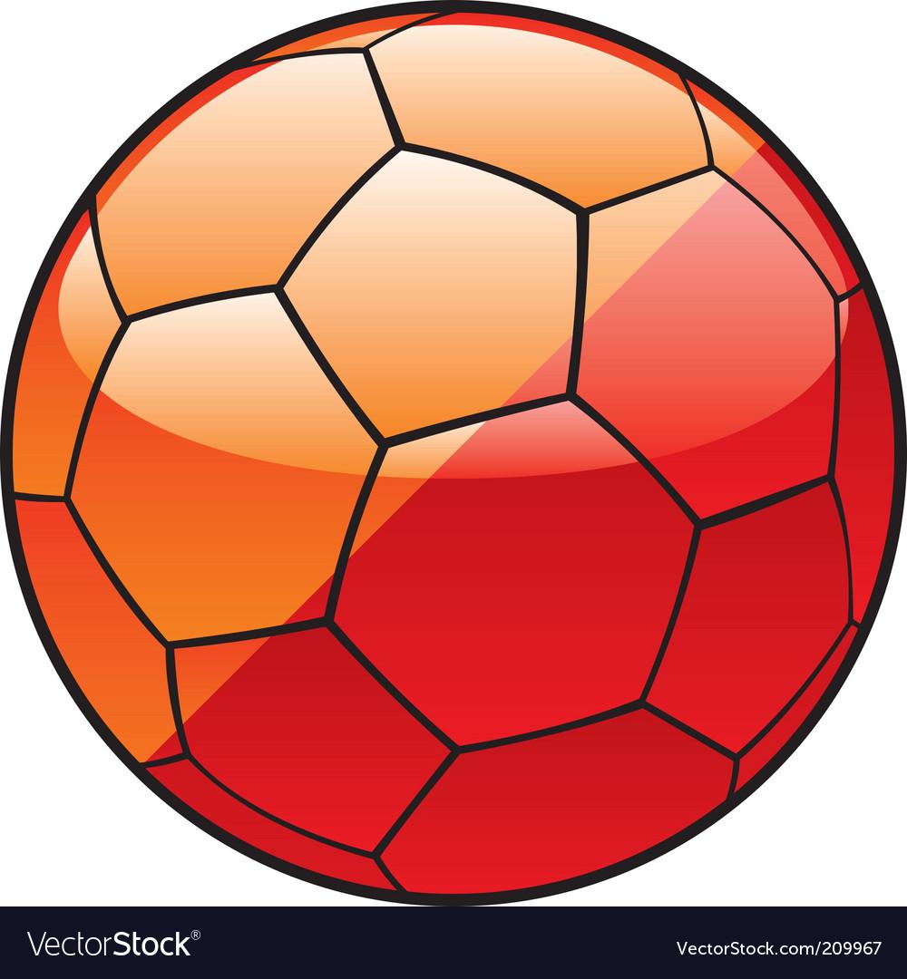 Butane flag on soccer ball vector image