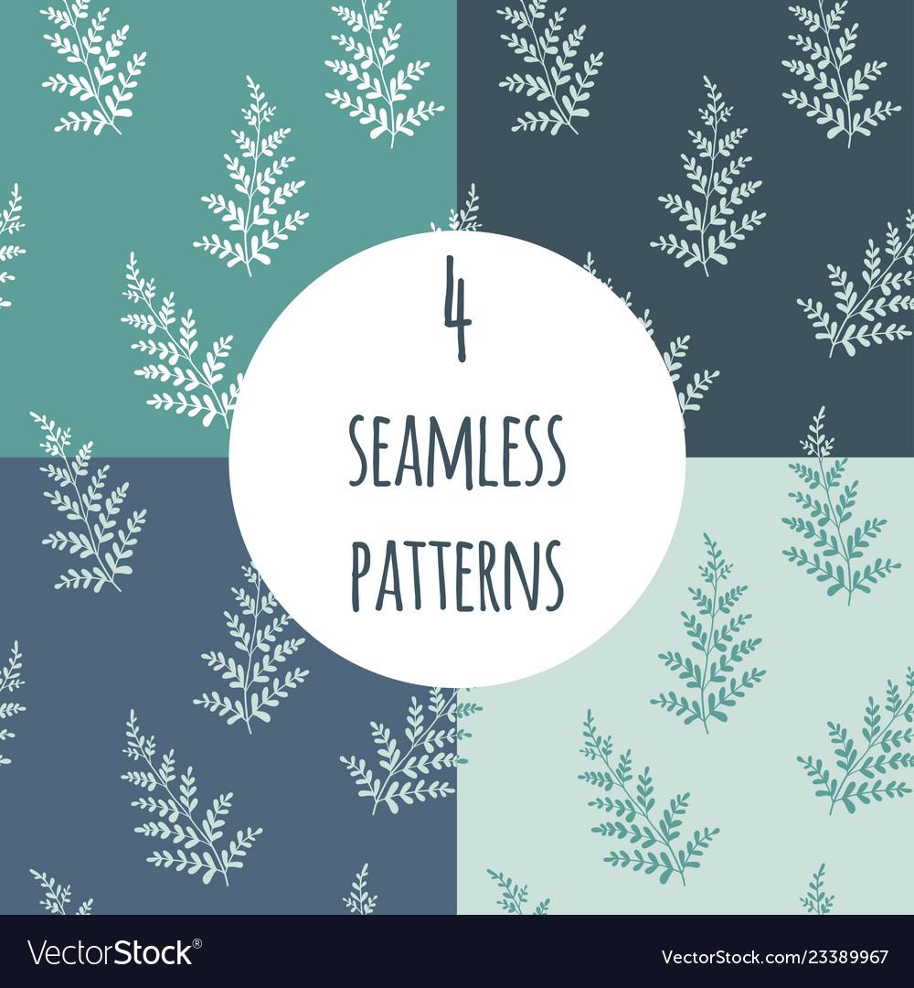 Fern seamless pattern set