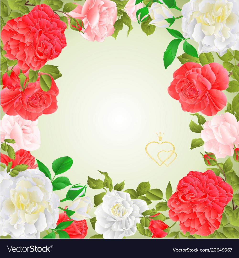 Frame floral border festive background
