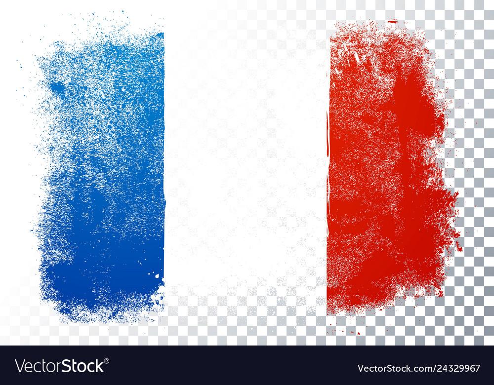 France flag texture on transparent background