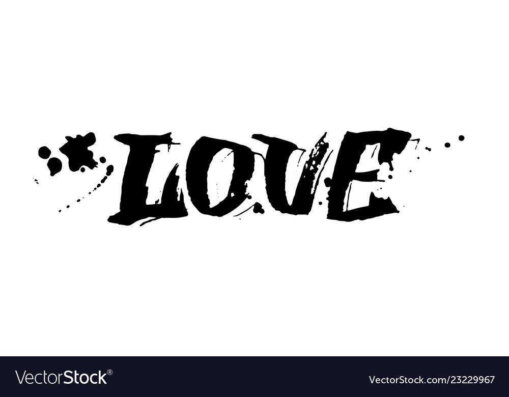 Love lettering valentines day card design