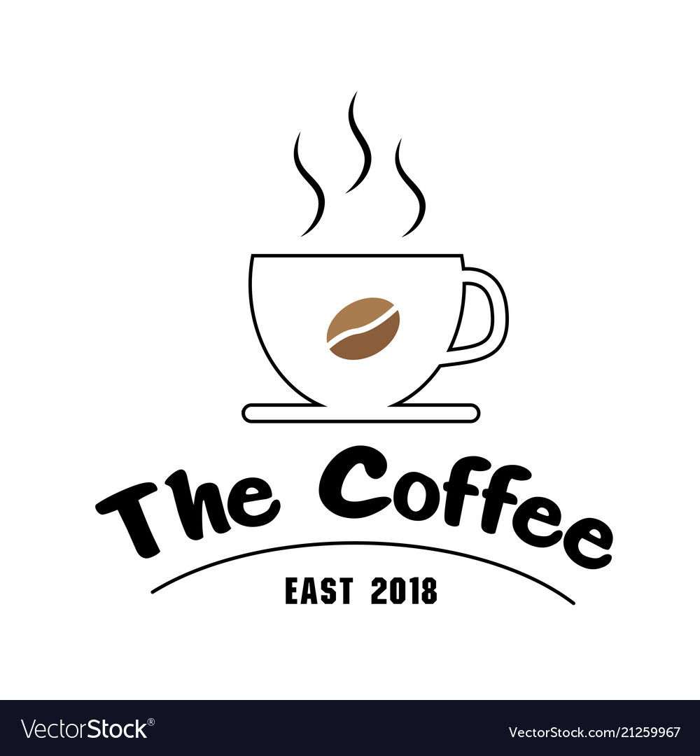 The coffee east 2018 cup of coffee background vect