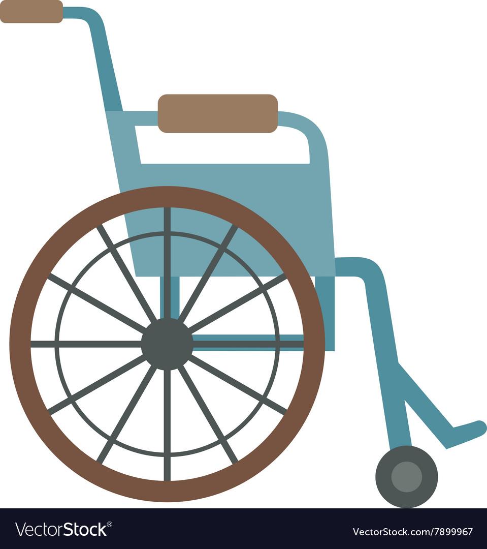 Wheelchair flat design medical icon