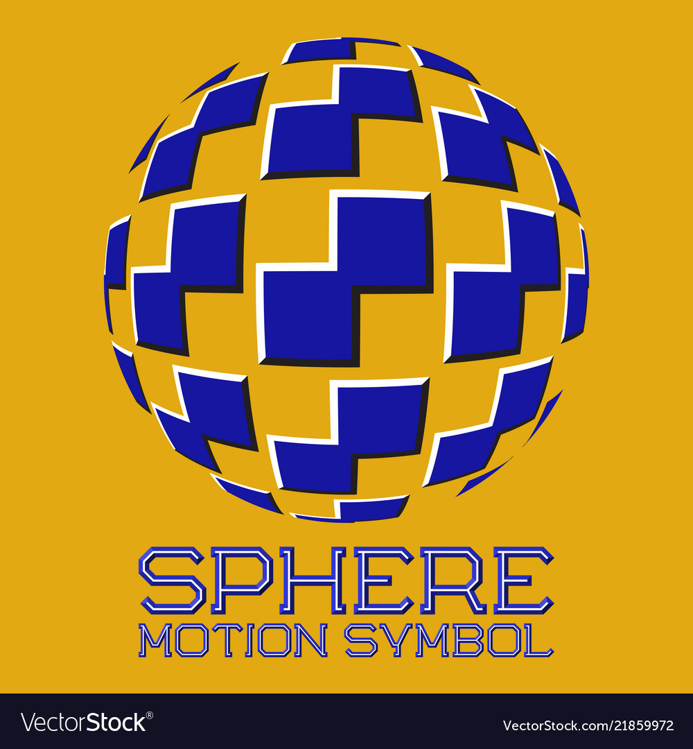 Abstract logo symbol in motion sphere shape