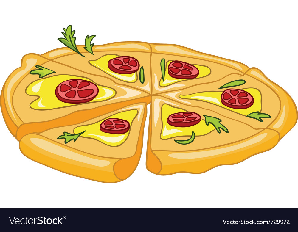 Cartoon food pizza