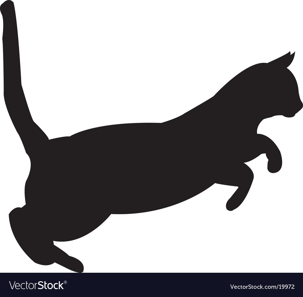 cat silhouette royalty free vector image vectorstock rh vectorstock com cat silhouette vector free download halloween cat silhouette vector
